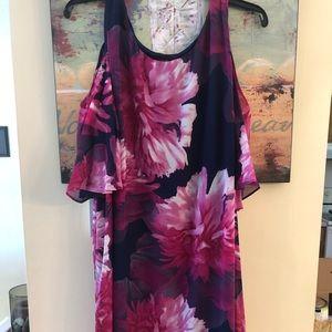 Plus size Connected Floral Dress